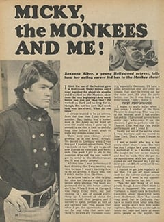 <cite>Monkee Spectacular</cite> (October 1967), Micky, The Monkees and Me, Page 38