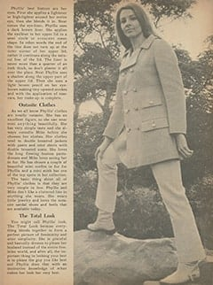 <cite>Monkee Spectacular</cite> (October 1967), How to Have the Phyllis Nesmith Look, Page 49