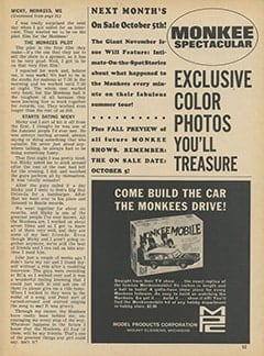<cite>Monkee Spectacular</cite> (October 1967), Micky, The Monkees and Me, Page 53