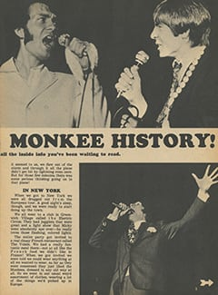 <cite>Tiger Beat</cite> (October 1967), Greatest Tour in Monkee History, Page 03
