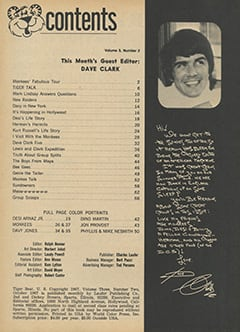 <cite>Tiger Beat</cite> (October 1967) table of contents