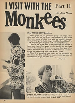<cite>Tiger Beat</cite> (October 1967), I Visit with The Monkees (Part 11), Page 28