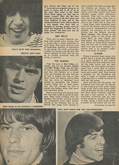 <cite>Tiger Beat</cite> (October 1967), The Truth About Group Splits, Page 40