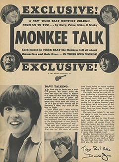 <cite>Tiger Beat</cite> (October 1967), Monkee Talk, Page 52