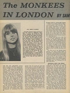 <cite>16</cite> (November 1967), The Monkees in London by Samantha Juste, Page 20
