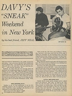 "<cite>16</cite> (November 1967), Davy's ""Sneak"" Weekend in New York, Page 28"