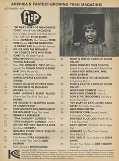 <cite>Flip</cite> (November 1967) table of contents