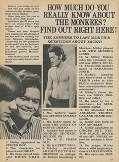 <cite>Flip</cite> (November 1967), How Much Do You Really Know About The Monkees?, Page 28