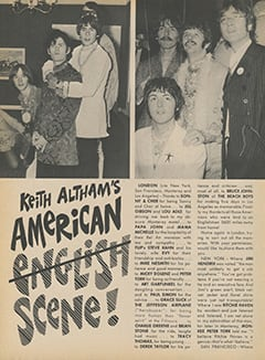 <cite>Flip</cite> (November 1967), Keith Altham's American Scene, Page 40