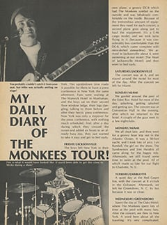 <cite>Flip</cite> (November 1967), My Daily Diary of The Monkees Tour, Page 46