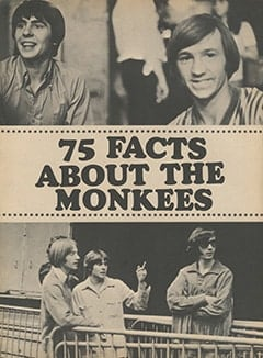 <cite>Monkee Spectacular</cite> (November 1967), 75 Facts About The Monkees, Page 08