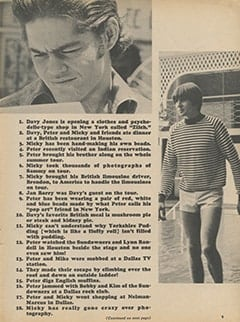 <cite>Monkee Spectacular</cite> (November 1967), 75 Facts About The Monkees, Page 09
