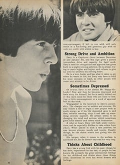<cite>Monkee Spectacular</cite> (November 1967), All About Davy According to Astrology, Page 20