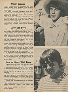 <cite>Monkee Spectacular</cite> (November 1967), All About Davy According to Astrology, Page 21
