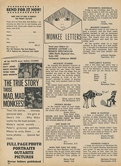 <cite>Monkee Spectacular</cite> (November 1967), Monkee Letters, Page 24