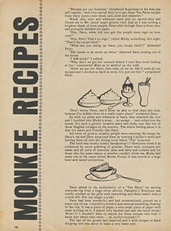 <cite>Monkee Spectacular</cite> (November 1967), Monkee Recipes, Page 48