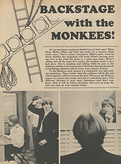 <cite>Monkee Spectacular</cite> (November 1967), Backstage with The Monkees, Page 54