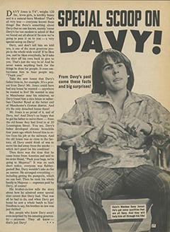 <cite>Star Time</cite> (November 1967), Special Scoop on Davy, Page 17