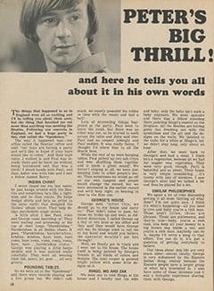 <cite>Tiger Beat</cite> (November 1967), Peter&rsquo;s Big Thrill, Page 18