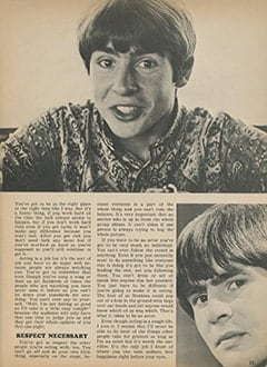 <cite>Tiger Beat</cite> (November 1967), Davy Talks About Acting, Page 25