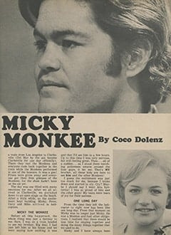 <cite>Tiger Beat</cite> (November 1967), The Day Micky Became a Monkee, Page 29