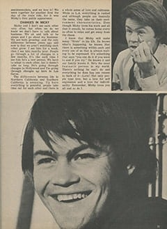 <cite>Tiger Beat</cite> (November 1967), The Day Micky Became a Monkee, Page 31