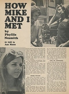 <cite>Tiger Beat</cite> (November 1967), How Mike and I Met, Page 36