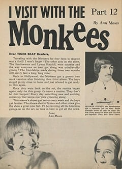 <cite>Tiger Beat</cite> (November 1967), I Visit with The Monkees (Part 12), Page 44
