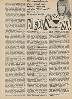 <cite>Tiger Beat</cite> (November 1967), Meow…w!, Page 62