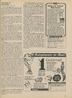<cite>Tiger Beat</cite> (November 1967), It's Happening in Hollywood, Page 63