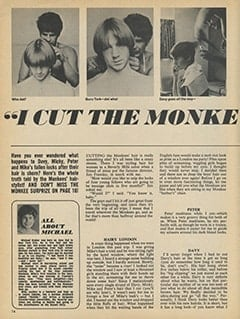 <cite>16</cite> (December 1967), I Cut The Monkees' Hair, Page 14