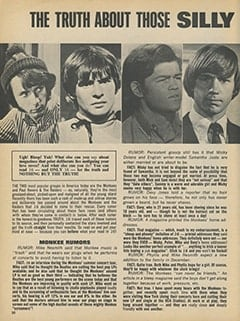 <cite>16</cite> (December 1967), The Truth About Those Silly Monkee-Raider Rumors, Page 30