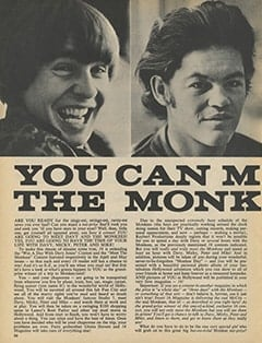 <cite>16</cite> (December 1967), You Can Meet Davy & The Monkees, Page 56