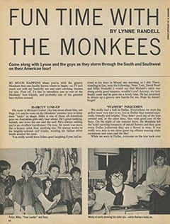 <cite>16</cite> (December 1967), Fun Time with The Monkees, Page 60