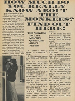 <cite>Flip</cite> (December 1967), How Much Do You Really Know About The Monkees?, Page 24
