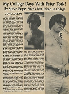 <cite>Flip</cite> (December 1967), My College Days with Peter Tork (Conclusion), Page 33