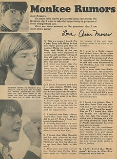 <cite>Monkee Spectacular</cite> (December 1967), Monkee Rumors, Page 08