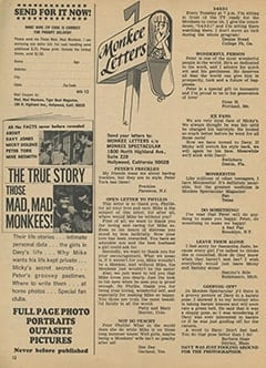 <cite>Monkee Spectacular</cite> (December 1967), Monkee Letters, Page 12