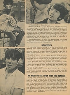 <cite>Monkee Spectacular</cite> (December 1967), How I Sneaked in to Meet The Monkees, Page 16