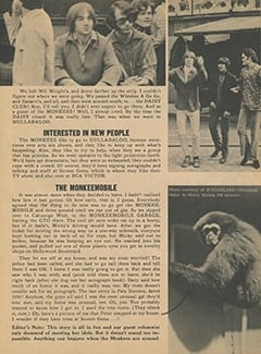 <cite>Monkee Spectacular</cite> (December 1967), How I Sneaked in to Meet The Monkees, Page 17
