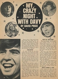 <cite>Monkee Spectacular</cite> (December 1967), My Crazy Night with Davy, Page 28