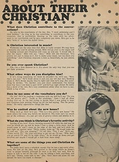 <cite>Monkee Spectacular</cite> (December 1967), Phyllis Talks About Their Super-Son Christian, Page 33