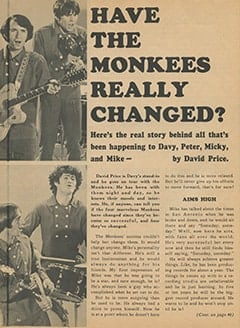 <cite>Monkee Spectacular</cite> (December 1967), Have The Monkees Really Changed?, Page 46