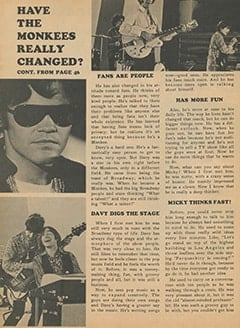 <cite>Monkee Spectacular</cite> (December 1967), Have The Monkees Really Changed?, Page 48