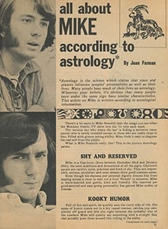 <cite>Monkee Spectacular</cite> (December 1967), All About Mike According to Astrology, Page 51