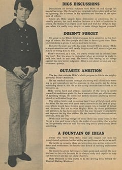 <cite>Monkee Spectacular</cite> (December 1967), All About Mike According to Astrology, Page 52