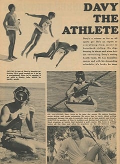 <cite>Monkee Spectacular</cite> (December 1967), Davy the Athlete, Page 60