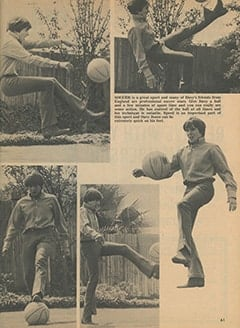 <cite>Monkee Spectacular</cite> (December 1967), Davy the Athlete, Page 61