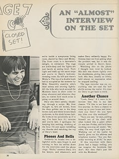 "<cite>Tiger Beat Presents Davy Jones</cite> (December 1967), An ""Almost"" Interview on the Set, Page 20"