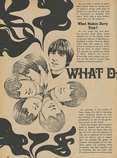 <cite>Tiger Beat Presents Davy Jones</cite> (December 1967), What Davy's Really Like, Page 22